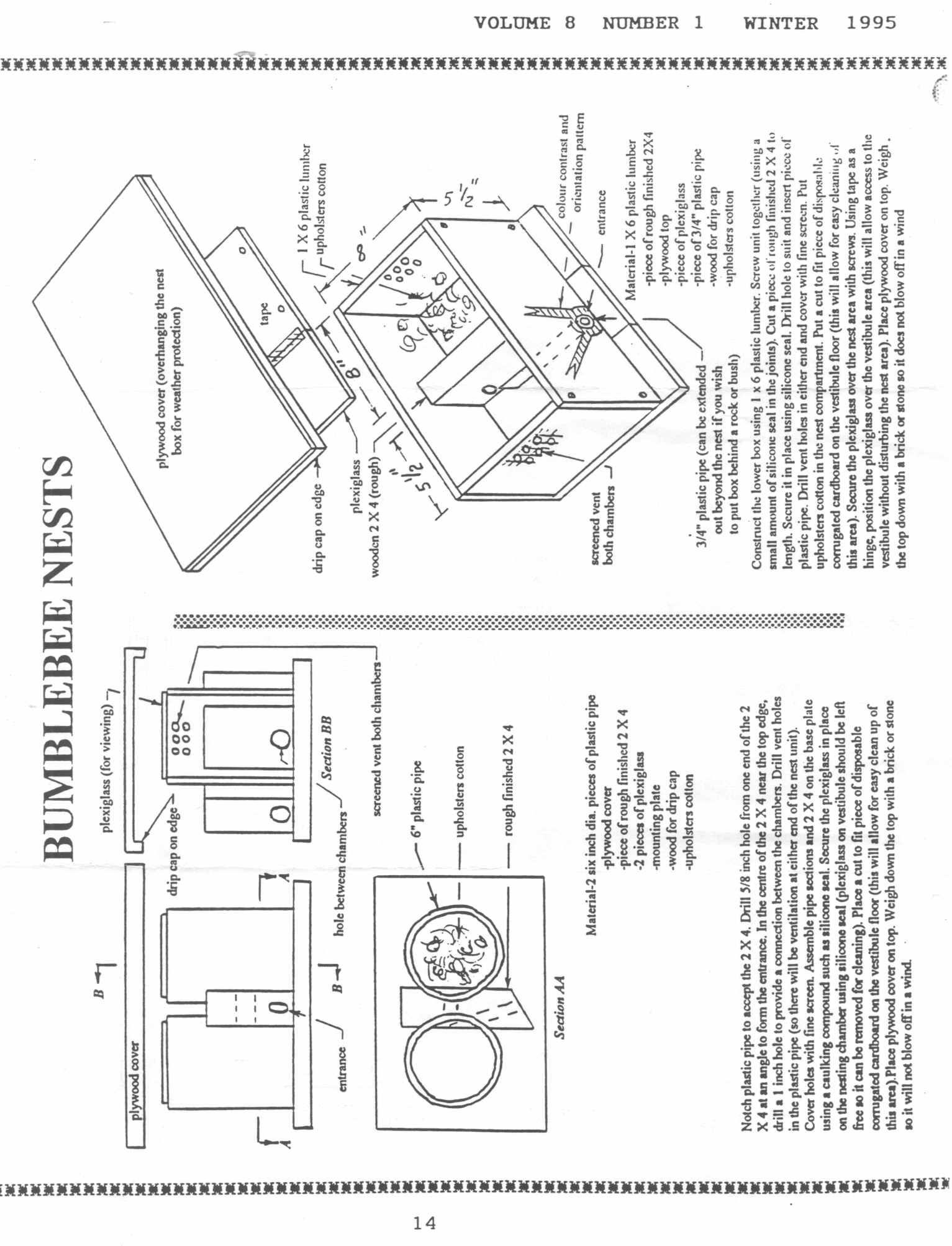 Bumble Beeus Nest Box Plan