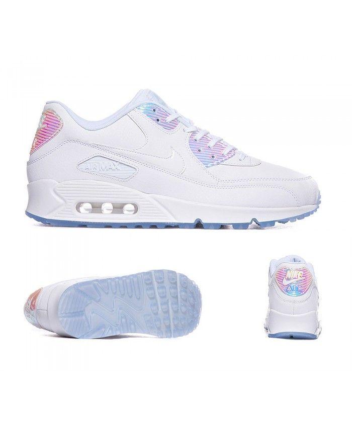 0f6217d0 Nike Air Max 90 Premium Trainer White Blue Tint S92257 | Nike air ...