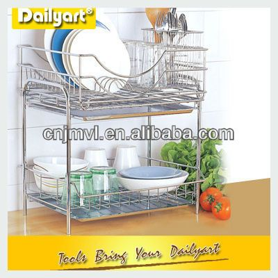 Kitchen Stainless Steel 2 Layered Dish Drainer Buy 2 Layer Dish Drainer Kitchen 2 Layer Dish Drainer Stainless Countertop Organization Dish Drainers Kitchen