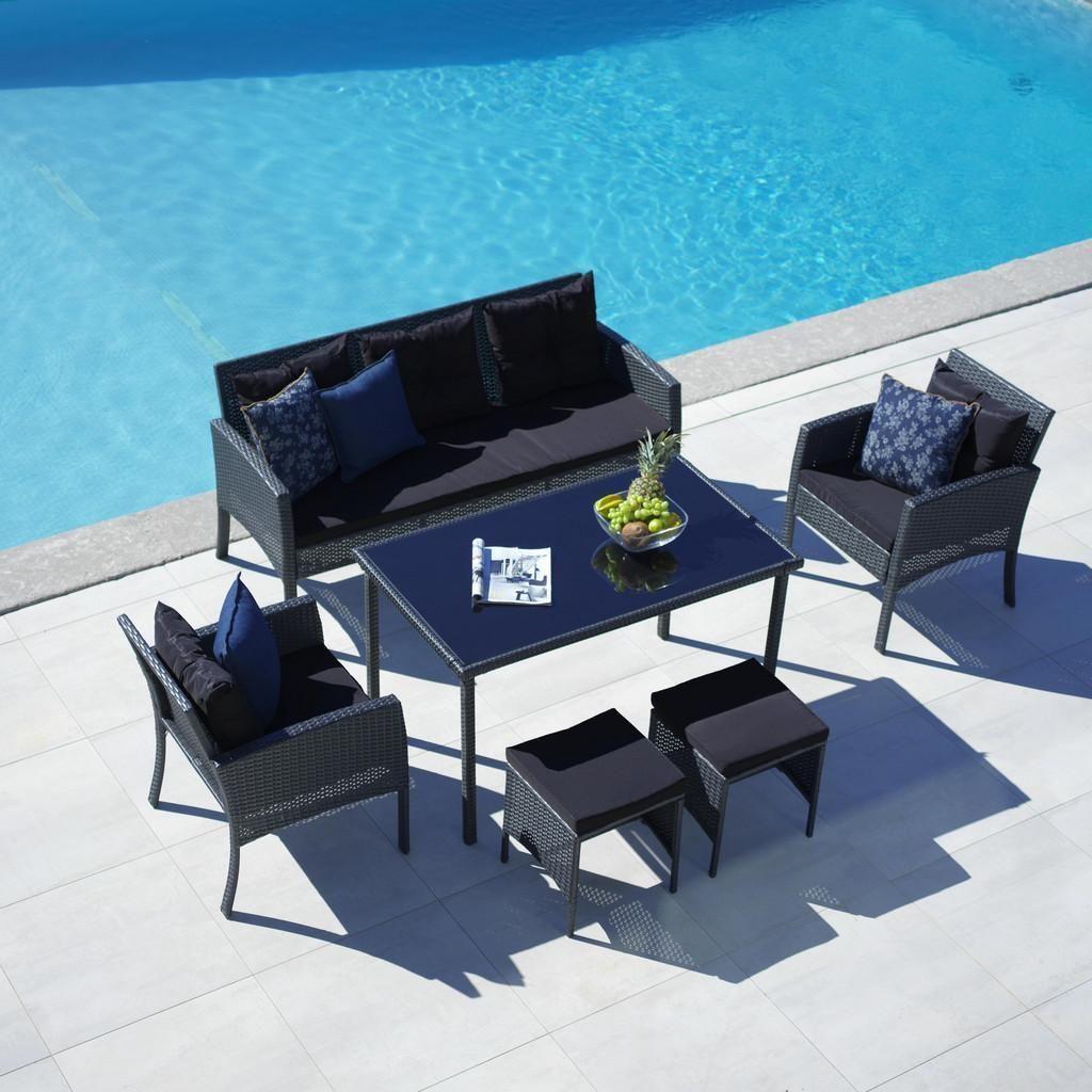 Loungegarnitur Kerstin Dunkelgrau Schwarz Modern Glas Kunststoff Modern Living Lounge Garnitur Lounge Mobel Lounge