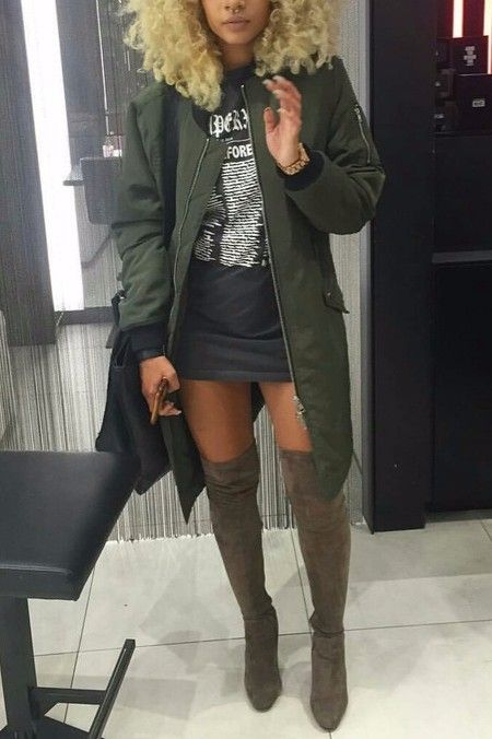 Thigh high OTK (over the knee) boots