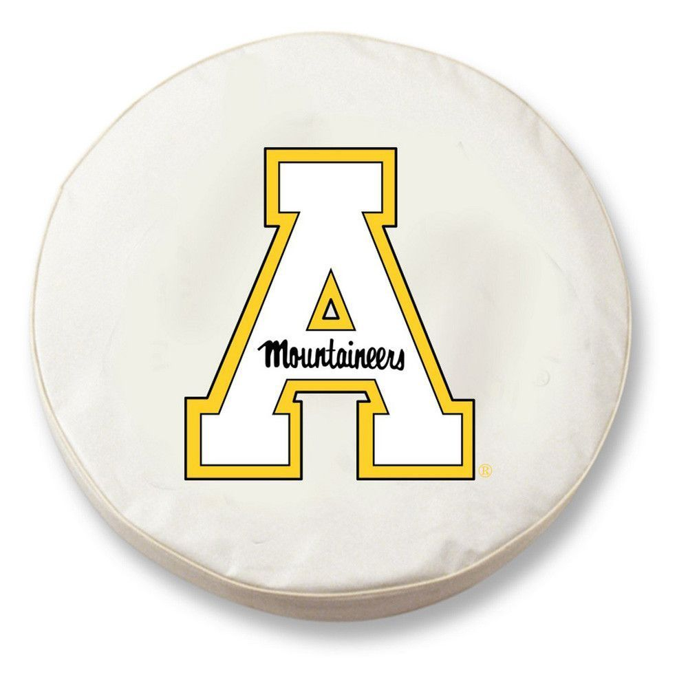 Appalachian State Mountaineers White Tire Cover w/ Security Grommets
