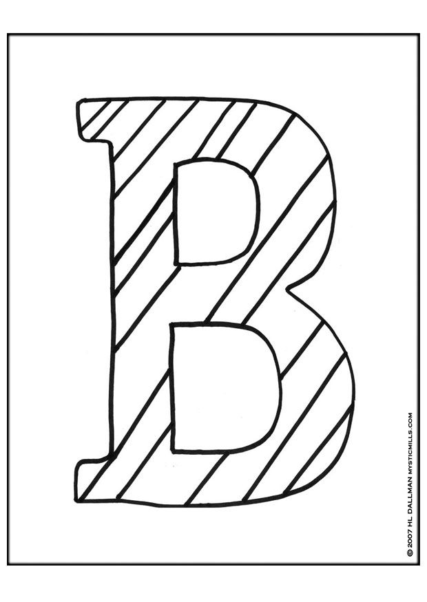 Create Names With Bubble Letters | Printable letter b coloring pages ...