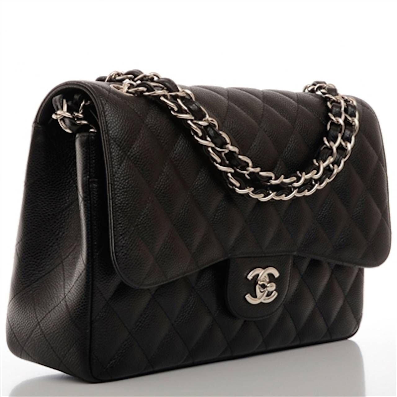 d535d80f317802 Chanel Black Quilted Caviar Jumbo Classic Double Flap Bag at 1stdibs ...