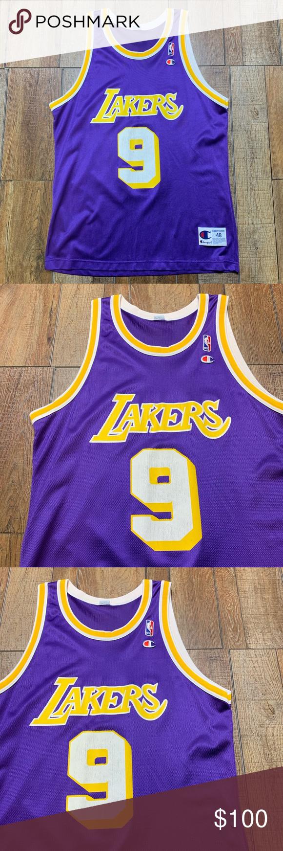81bba5efa Nick Van Exel LA Lakers Vintage Champion Jersey 48 Excellent Condition Nick  Van Exel  9 Los Angeles Lakers Vintage • Retro • Throwback Authentic    Official ...