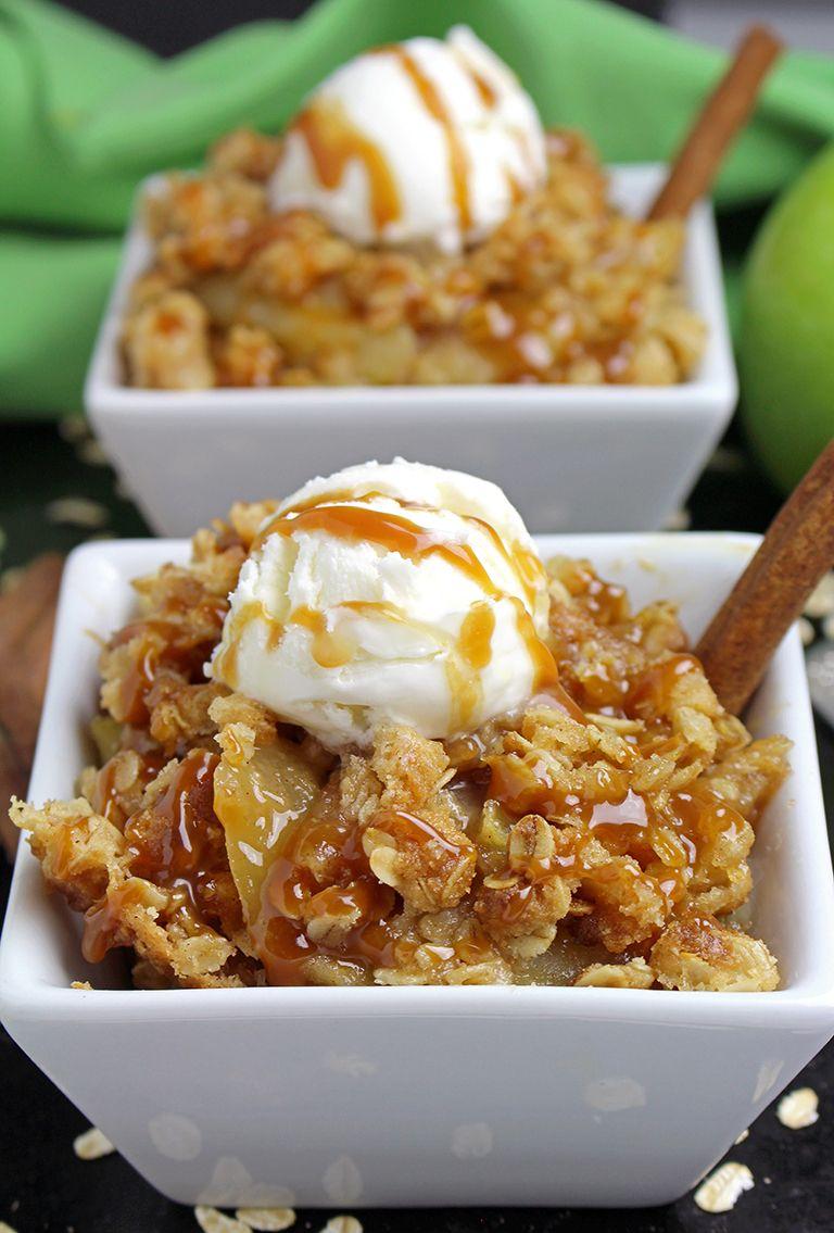 Caramel Apple Crisp Recipe Caramel apple crisp, Apple