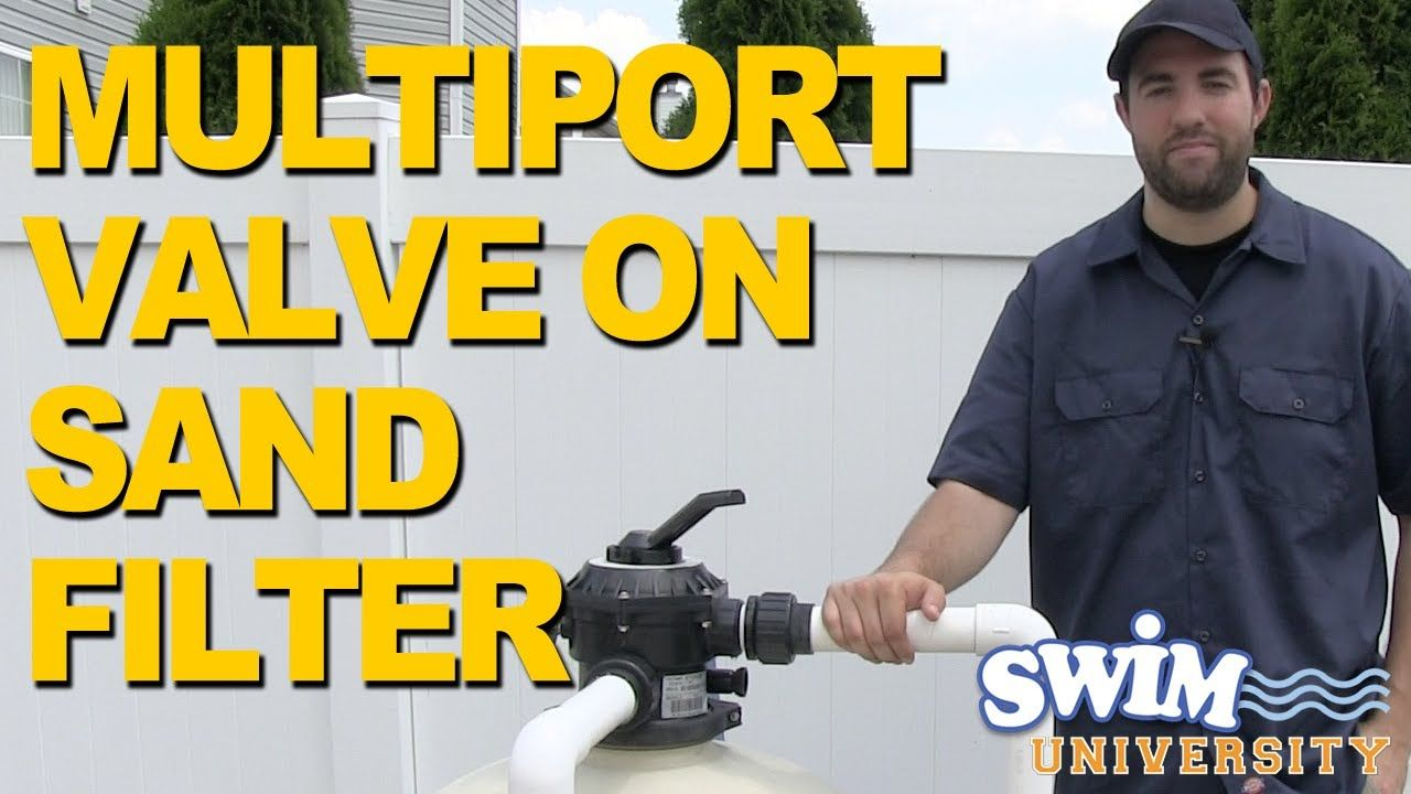 How to operate a multiport valve on a sand filter