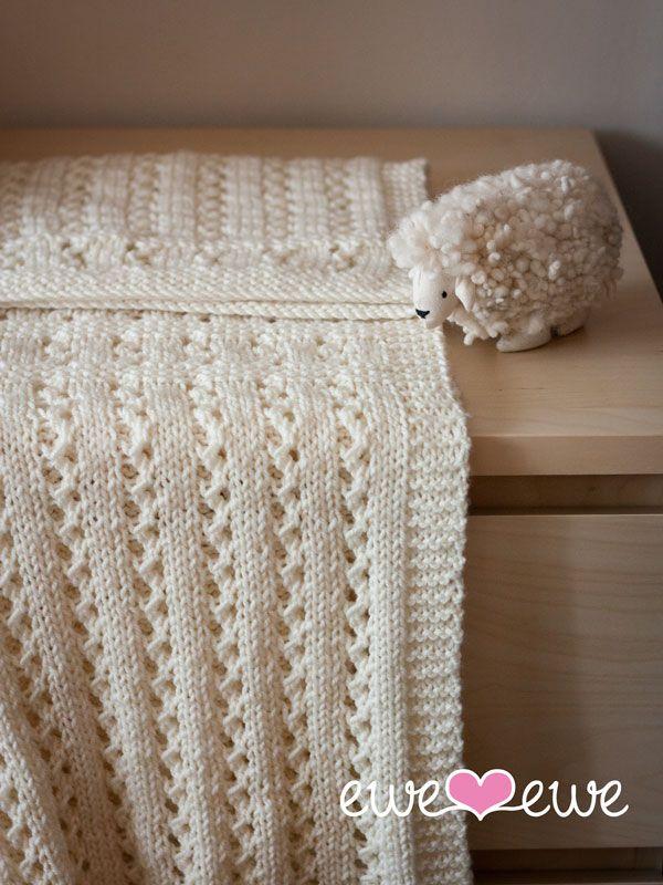 Sweet Pea Baby Blanket Heirloom Quality Knitting Pattern Blanket