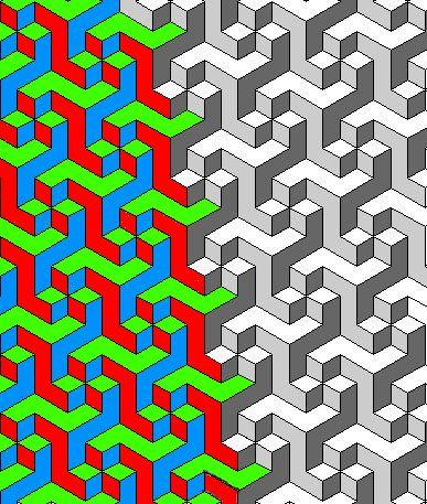 Rainbowphoenix D Tessellations And Isometric Paper  Grafik