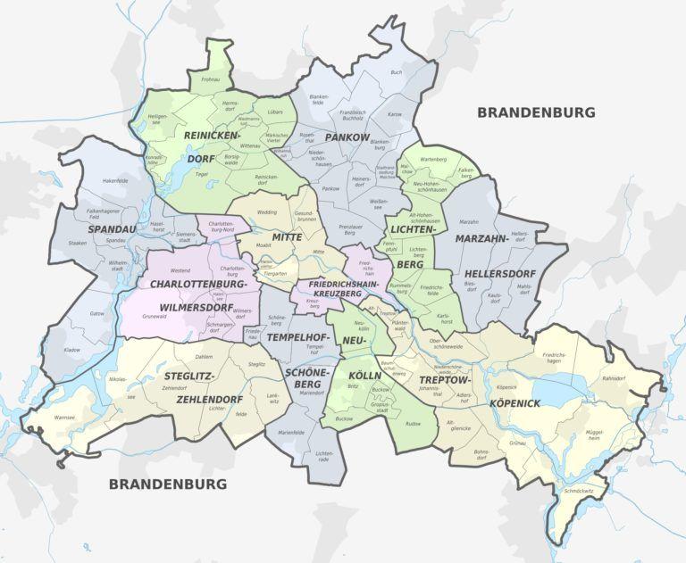 Cartes Et Plans Detailles De Berlin Carte De Berlin Berlin Et