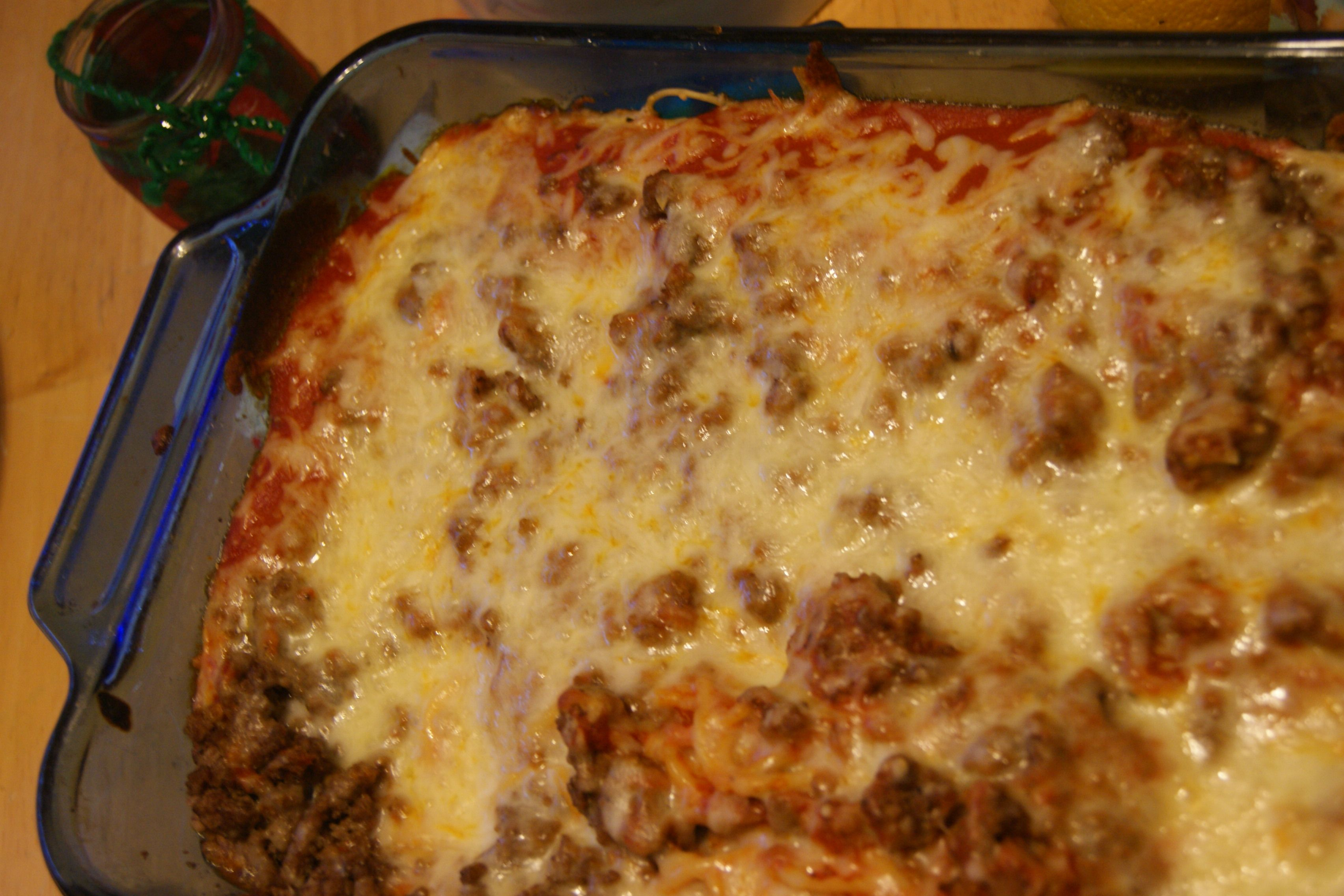 Baked Spaghetti (Easy Meal)