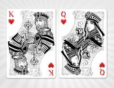 King And Queen Of Hearts Alice In Wonderland Playing Card Deck By