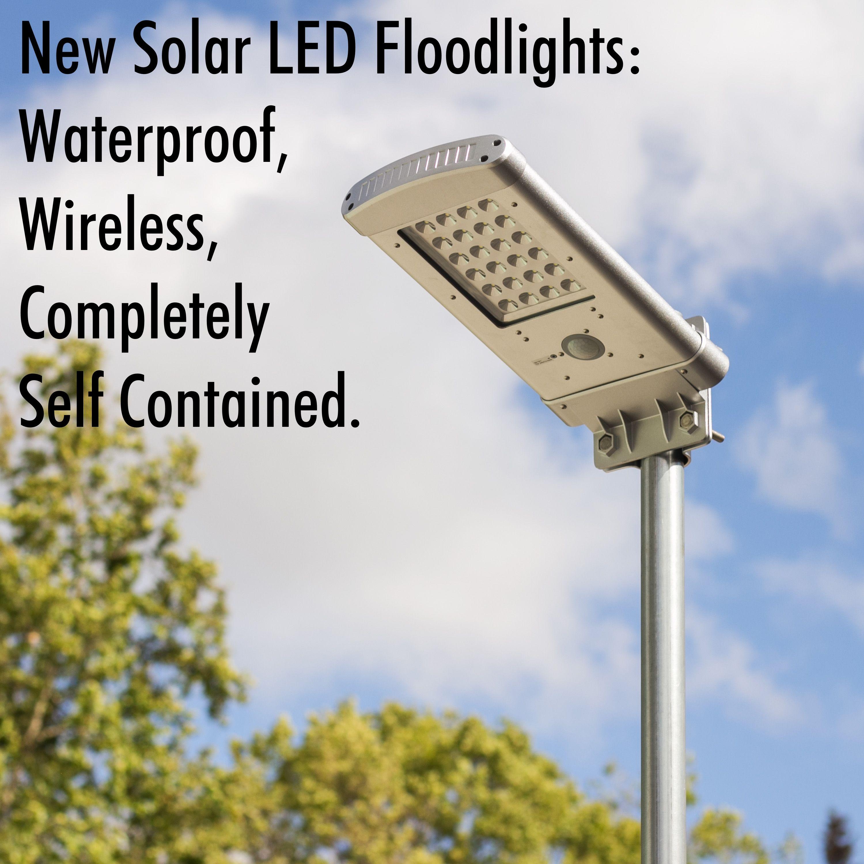 New Solar LED Floodlights Waterproof, Wireless
