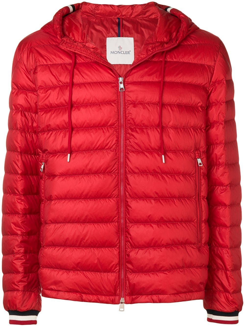 cbdc68fc1231 MONCLER MONCLER HOODED DOWN JACKET - RED.  moncler  cloth