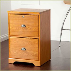 2 Drawer Wooden Filing Cabinets For Home