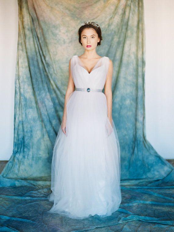 Lyra // Light wedding gown A line wedding dress by Milamirabridal ...