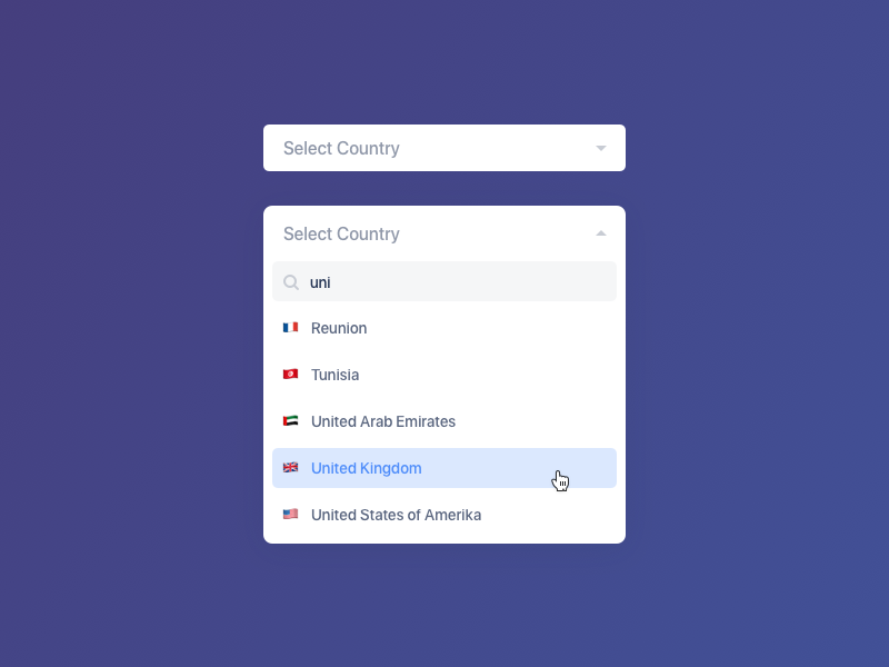 Select Country The Selection Country Web Design