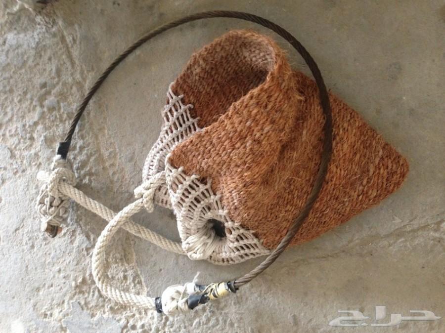 Handmade Palm Climber Tool Burlap Bag Handmade Reusable Tote Bags
