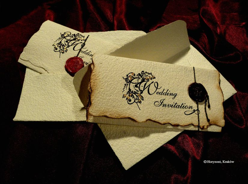 handwritten letter style vintage old english wedding With gothic inspired wedding invitations