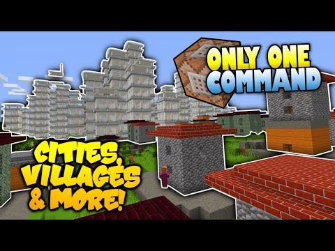 Minecraft | INSTANT Cities Villages & More! | NO MODS | Only