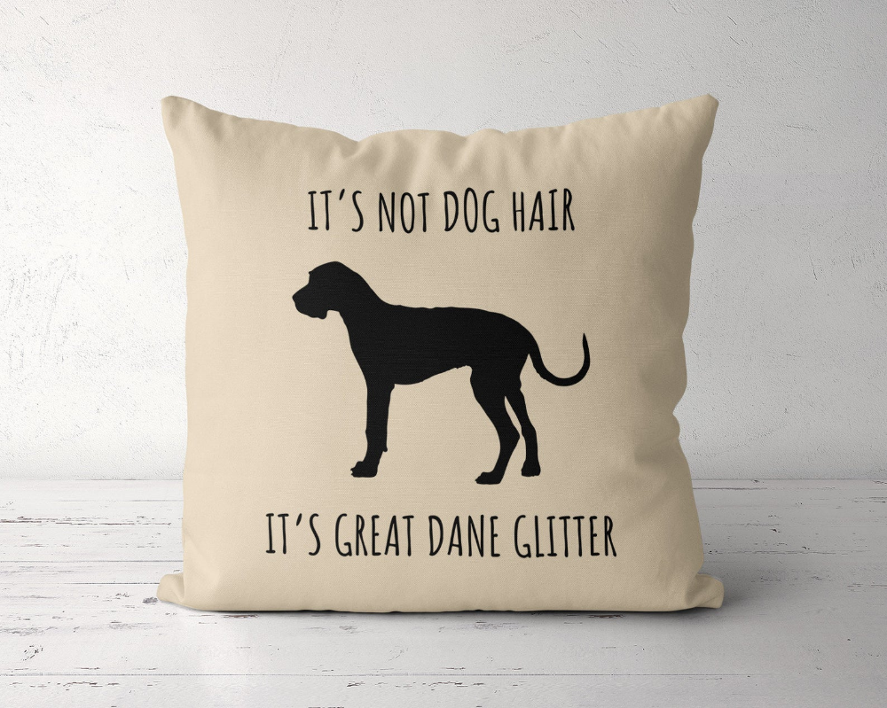 Great Dane Pillow, Its Not Dog Hair Its Great Dane Glitter Pillow Case, Great Dane Mom, Great Dane Gift, Great Dane Lover, Great Dane Decor