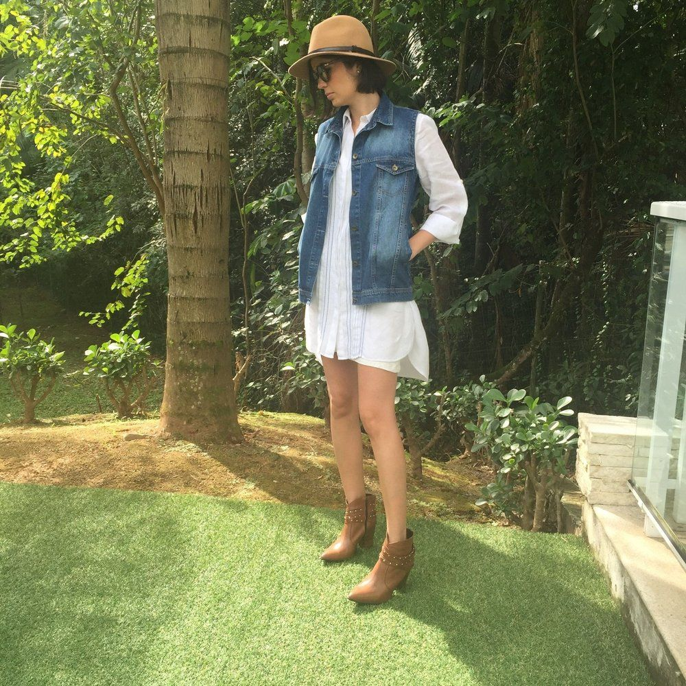 Colete jeans com aplicação personalizada nas costas da marca Coleteria ♡ - Coletes femininos e infantis - Coleteria | sempre♡