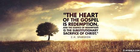The Heart Of The Gospel Is Redemption - Facebook Cover Photo