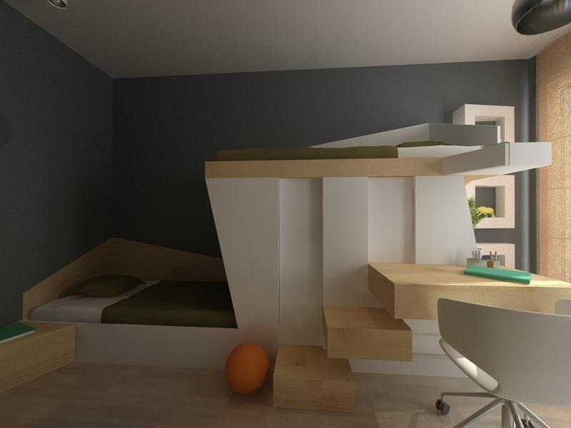 design of student  housing 35 m2 (интериорен дизайн на студентско жилище 35 м2)