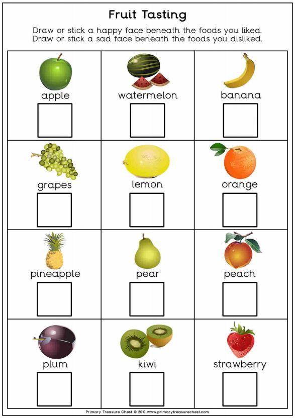 fruit tasting worksheet great to use for harvest resources for more harvest resources please. Black Bedroom Furniture Sets. Home Design Ideas
