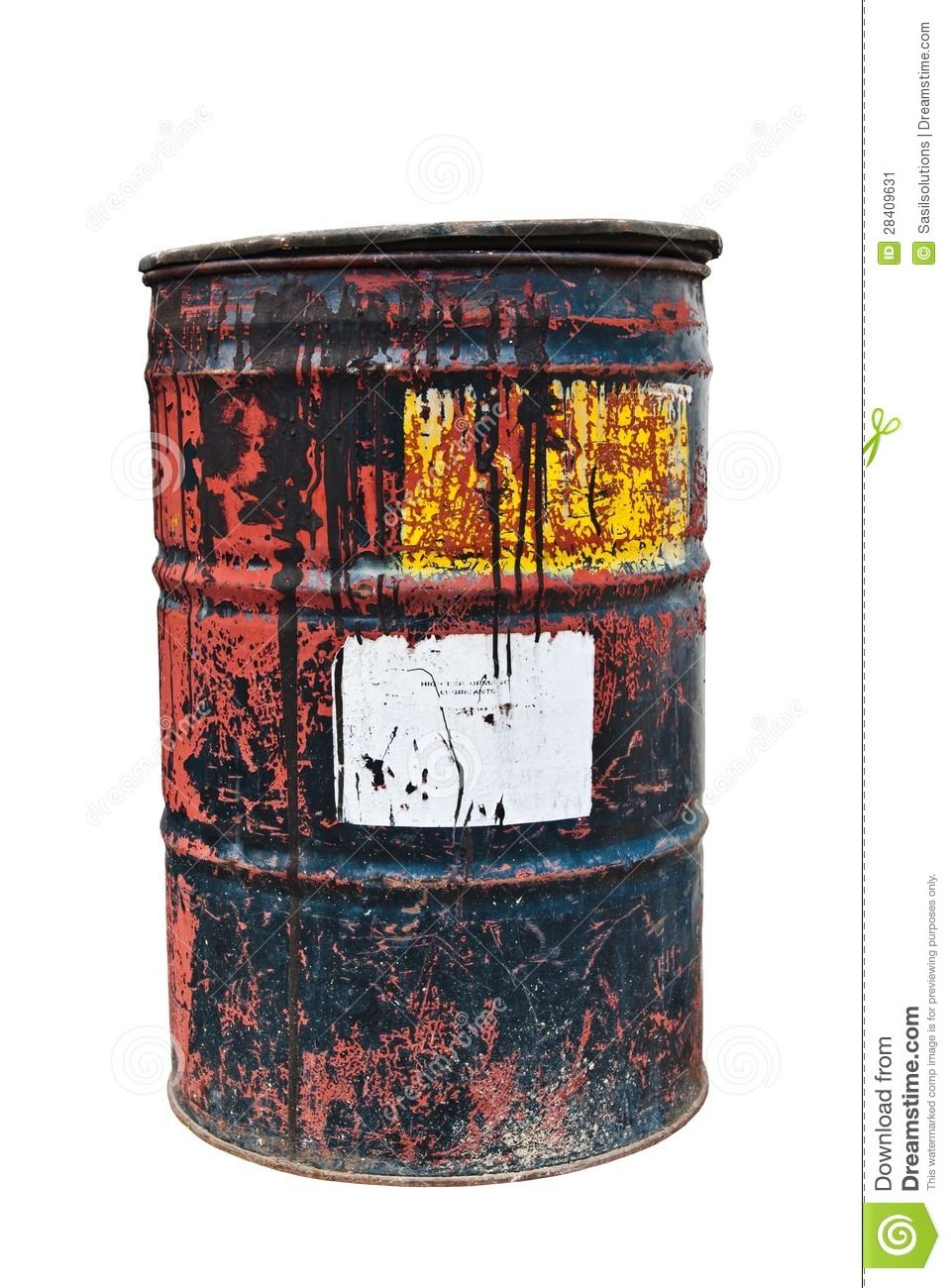 Rusty corroded barrel