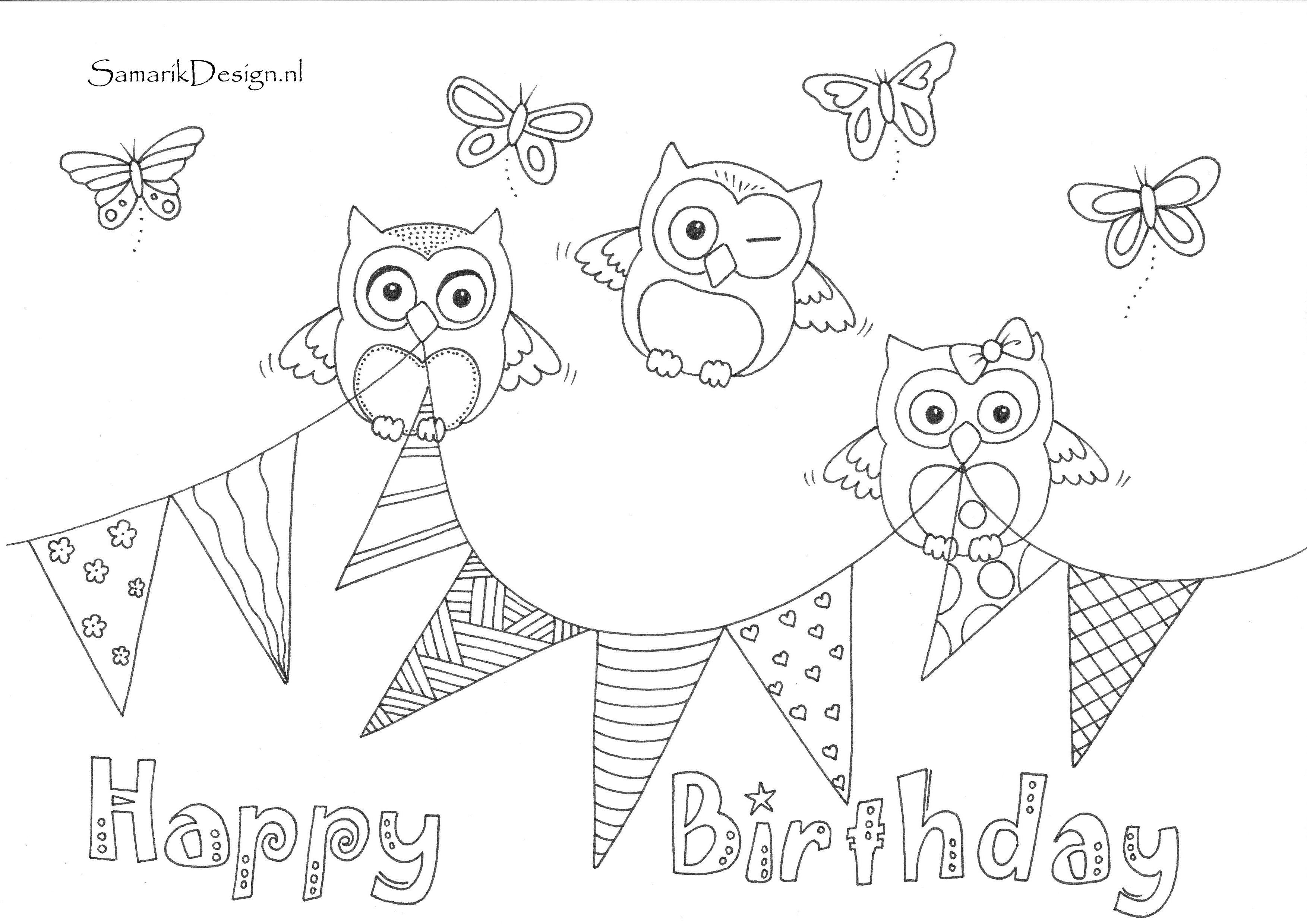 happy birthday verjaardag doodle met afbeeldingen