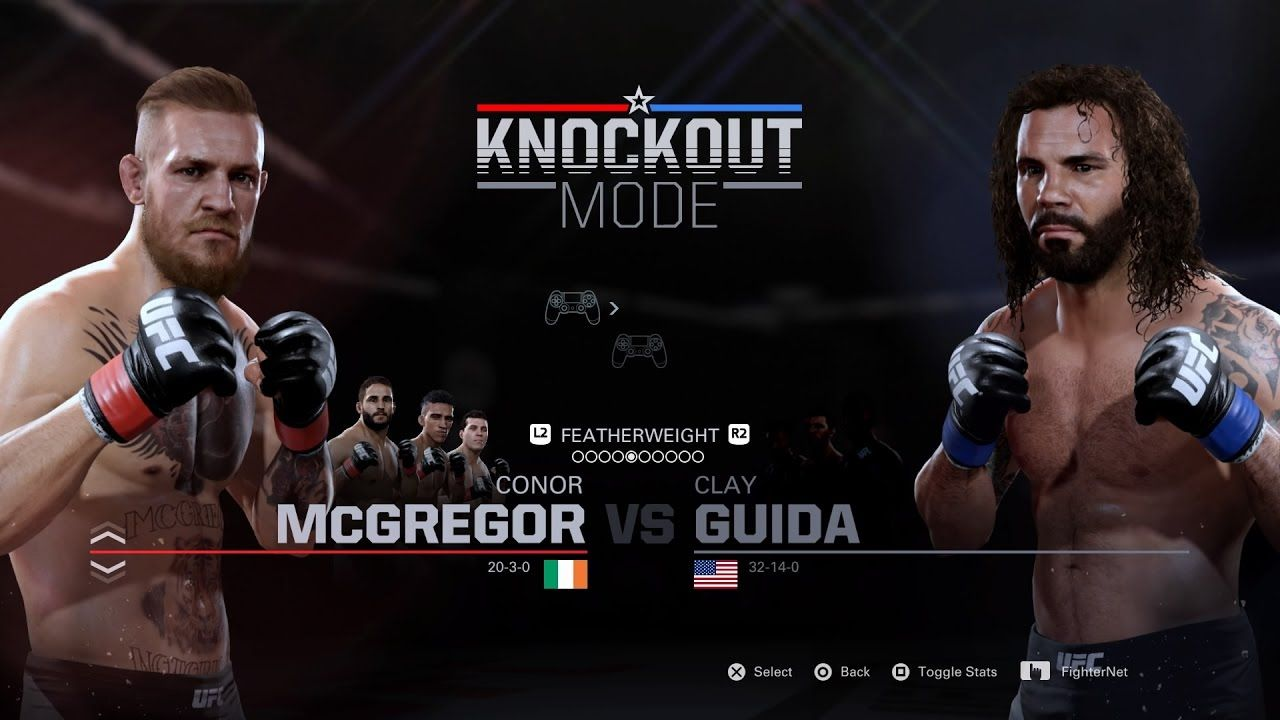 EA SPORTS UFC 2 Conor MCGregor VS Clay Guida Knockout Mode