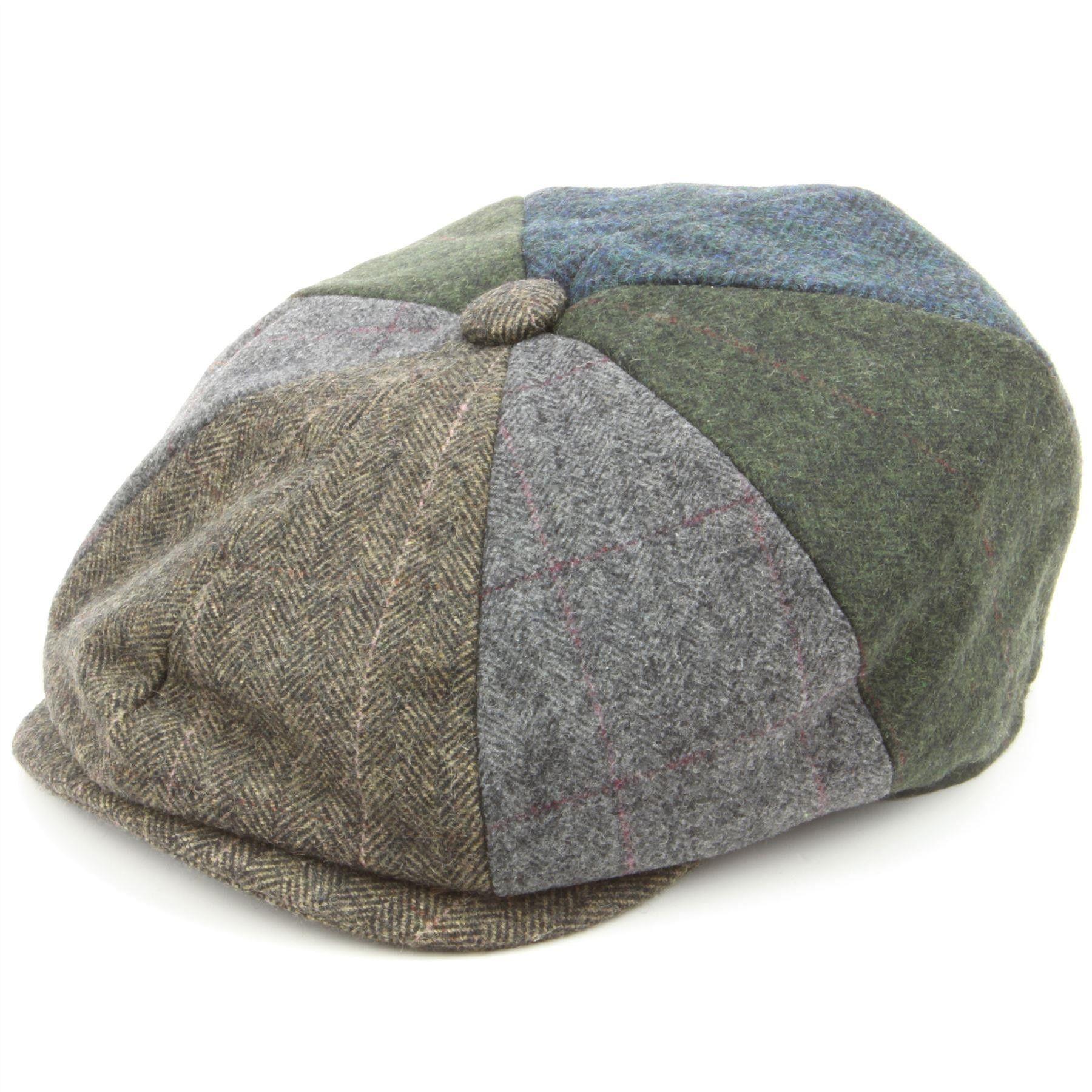 dd21efb54c3 Hawkins Patchwork Tweed Newsboy Gatsby 8 panel flat cap - Blue - Flat Caps  - Hats