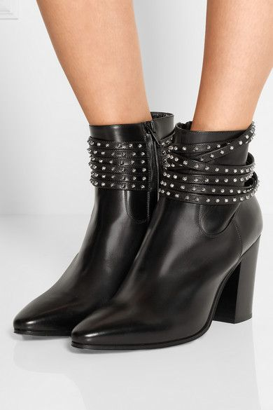 An edgy black bootie is the perfect accent to your fall skinny jeans. Saint Laurent