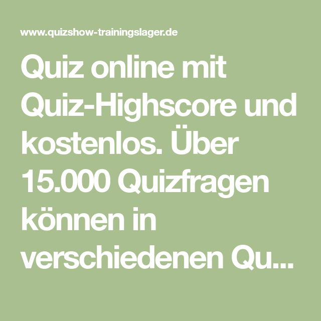 Quizfragen Trainingslager