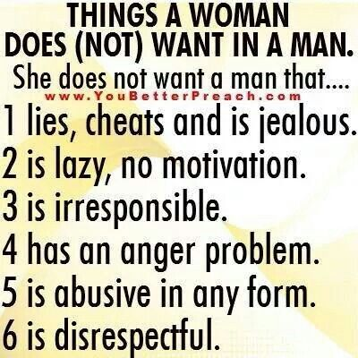 What a man wants in a woman