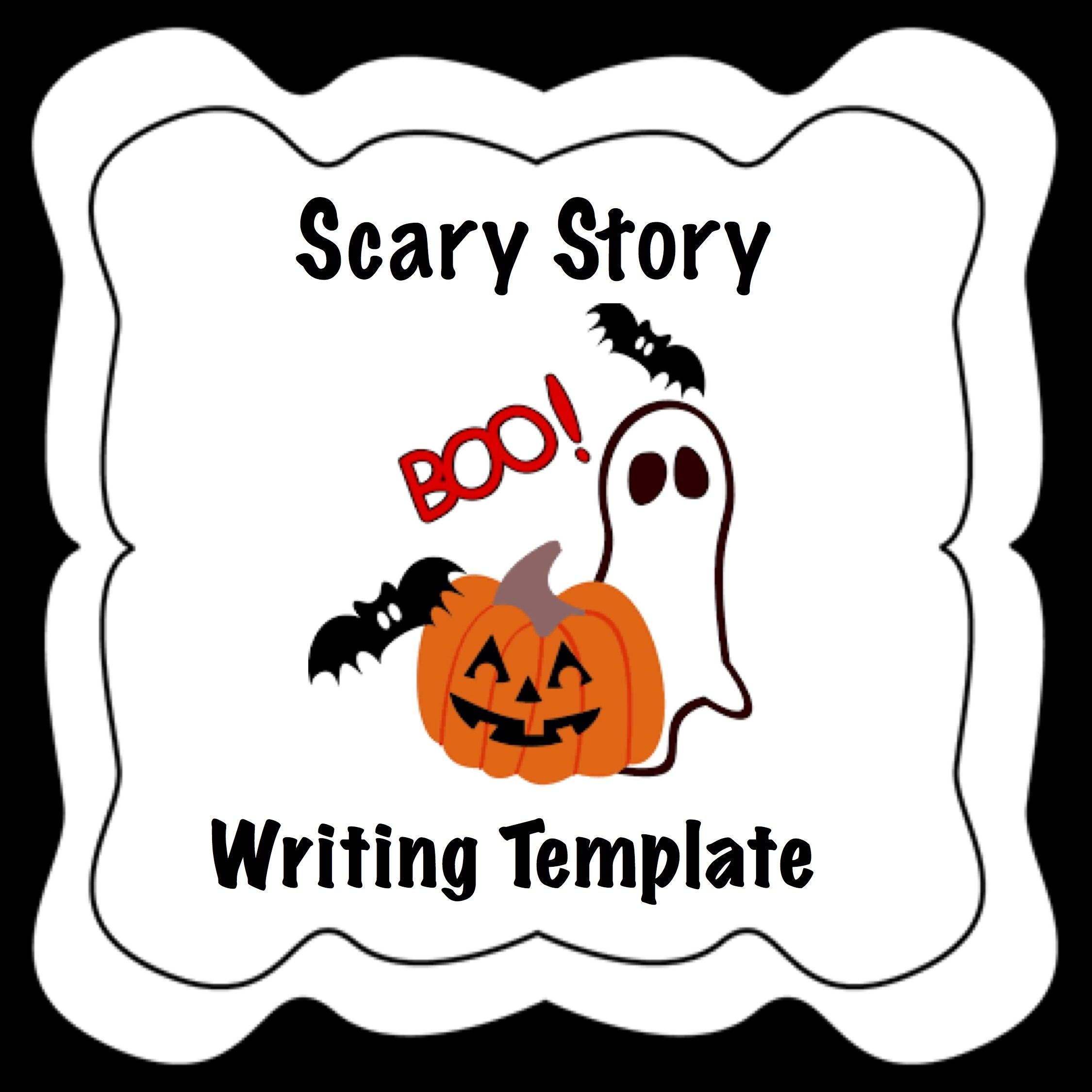 SPED Halloween Writing Activity Template with Sentence Starters ...