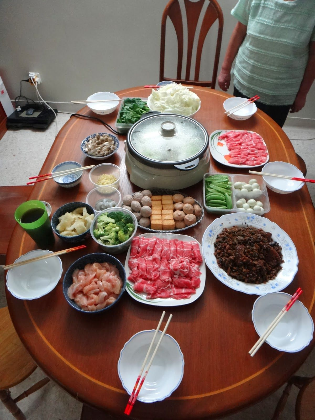 Steamboat (hotpot) at home on the first day of Chinese New