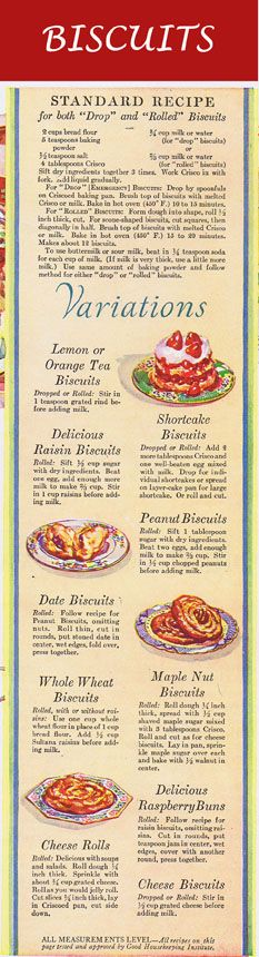 10 Hot Biscuit Recipes for both Drop and Rolled Biscuits: A Vintage Recipe