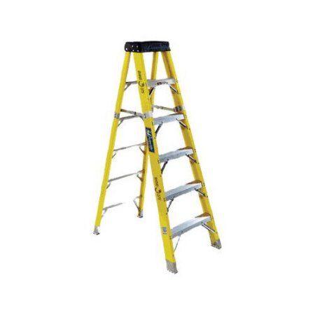 Louisville Ladder FS1110HD 10' Fiberglass Heavy Duty Step Ladder, Type IAA, 375 Lbs Rated, Yellow