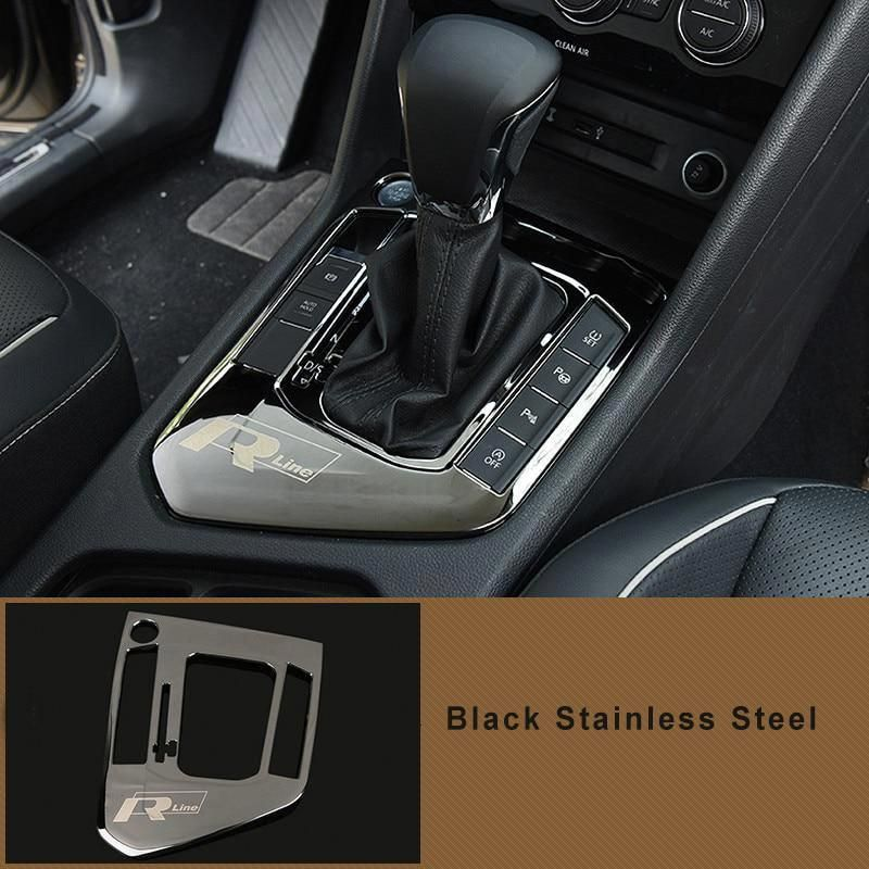 Stainless Interior Gear Shift Knob Cover Trim For Volkswagen VW Tiguan 2017 2018