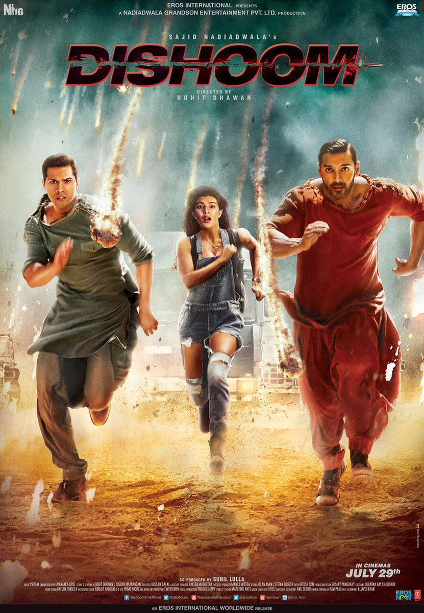 Check out action packed poster of Dhisoom! DishoomPoster