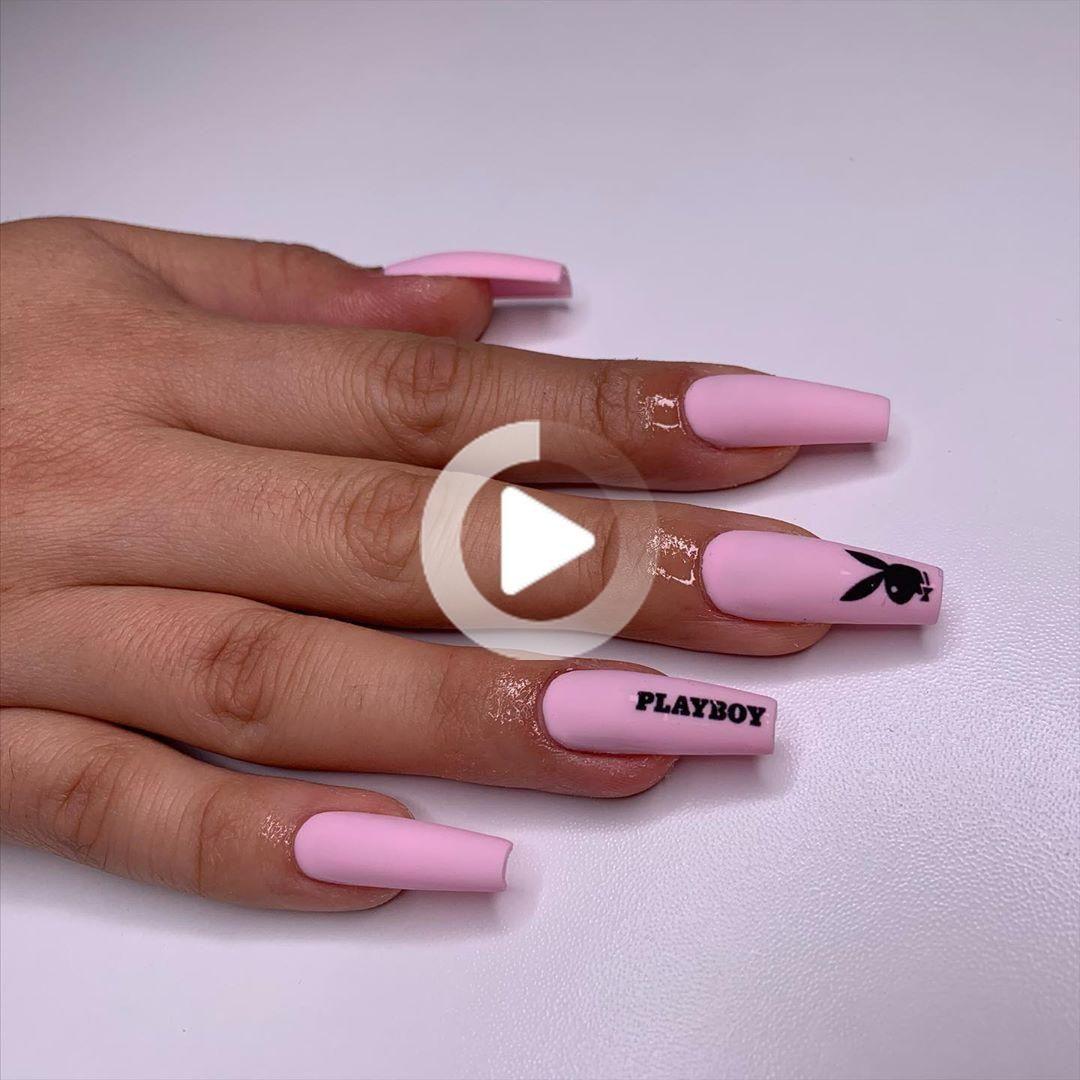 Instagramの上𝐌𝐌𝐁𝐍𝐀𝐈𝐋𝐒 Madam Glamによってベビーピンク Bcaの募金活動の一部 Coffin Nails Designs Acrylic Nail Designs Best Acrylic Nails