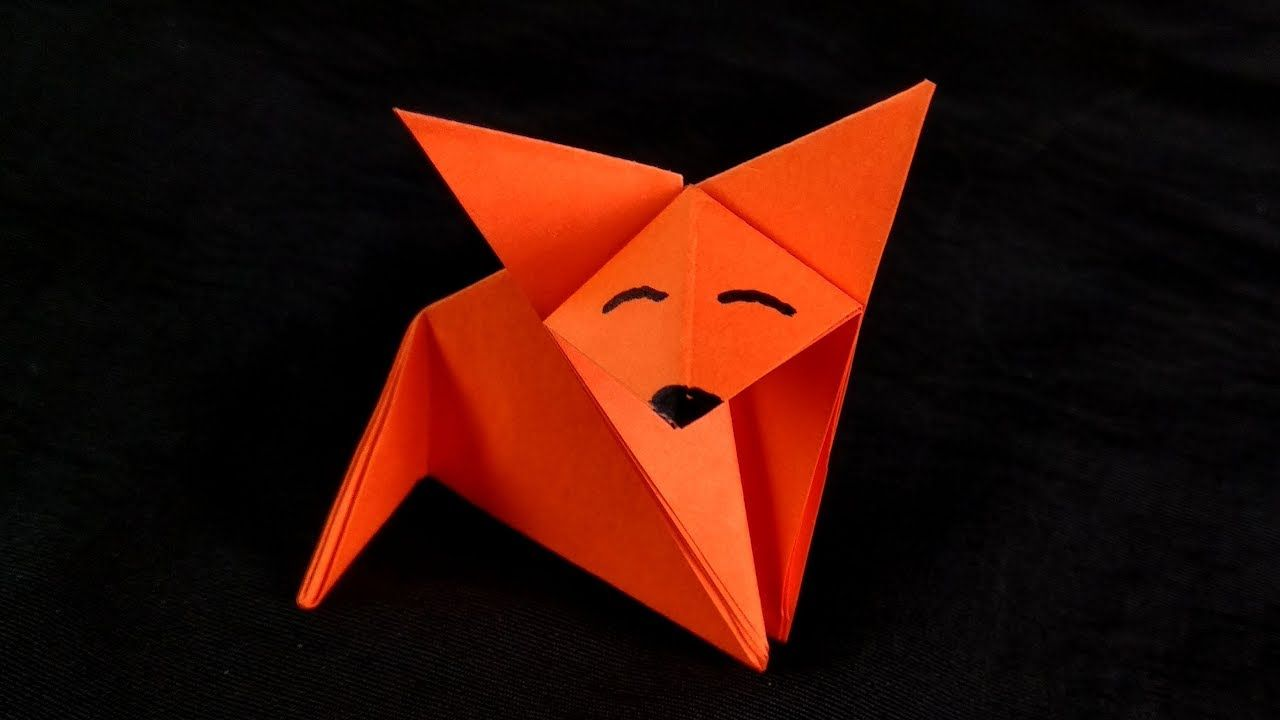 How To Make An Easy Origami Fox Origami Easy Origami Diy Origami