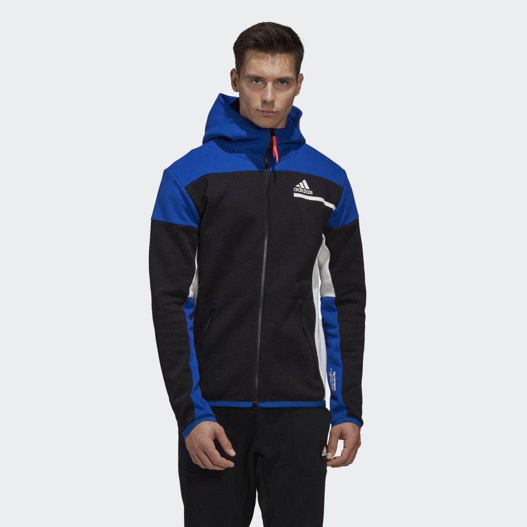 Adidas Z N E Full Zip Hoodie Black Adidas Us In 2021 Sportswear Fashion Adidas Tracksuit Mens Black Hoodie