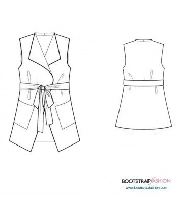 Custom-Fit Sewing Patterns - Vest With Pockets | sewing patterns ...