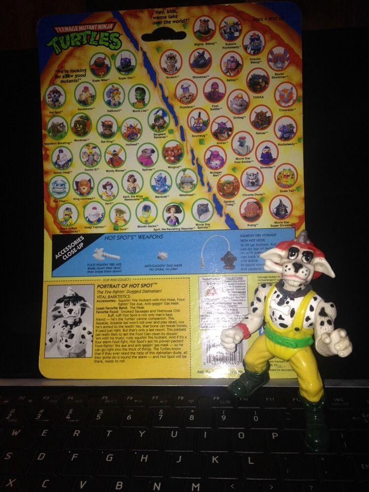 Teenage Mutant Ninja Turtles TMNT 1993 HOT SPOT Dalmation Figure Only - VHTF..!!