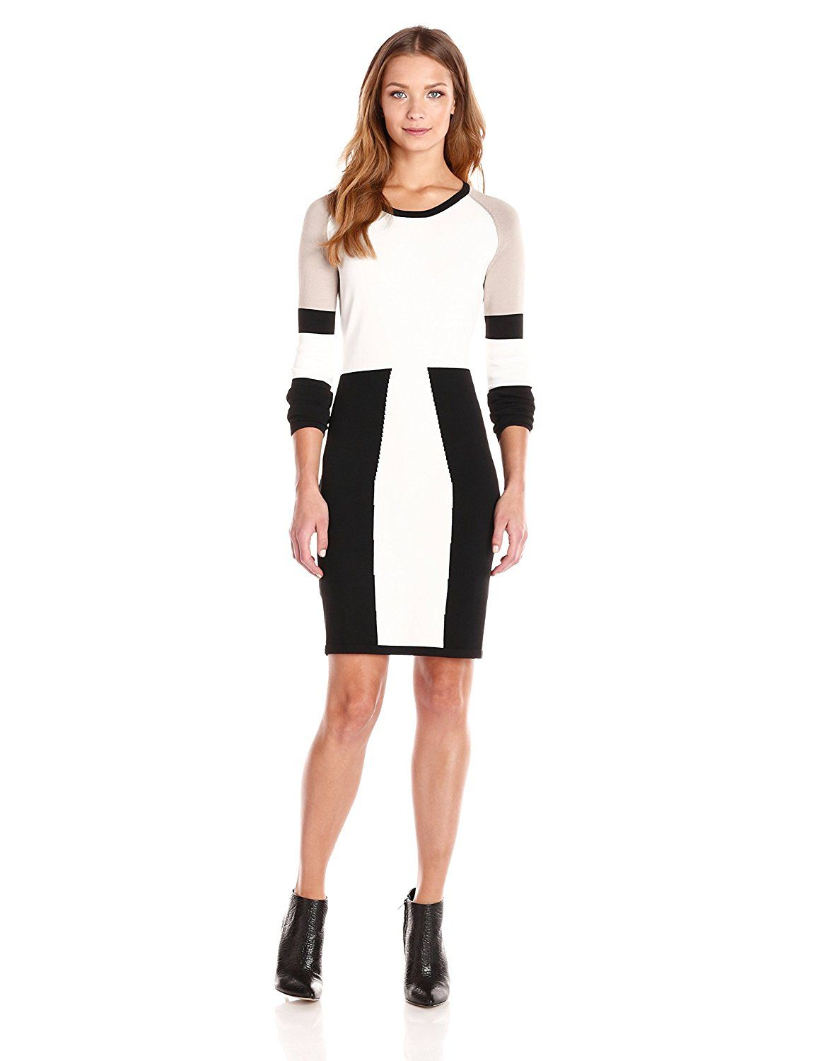 6948102e81d Calvin Klein Women's Color-Block Long-Sleeve Sweater Dress ** You can get  more details by clicking on the image. (This is an affiliate link and I  receive a ...