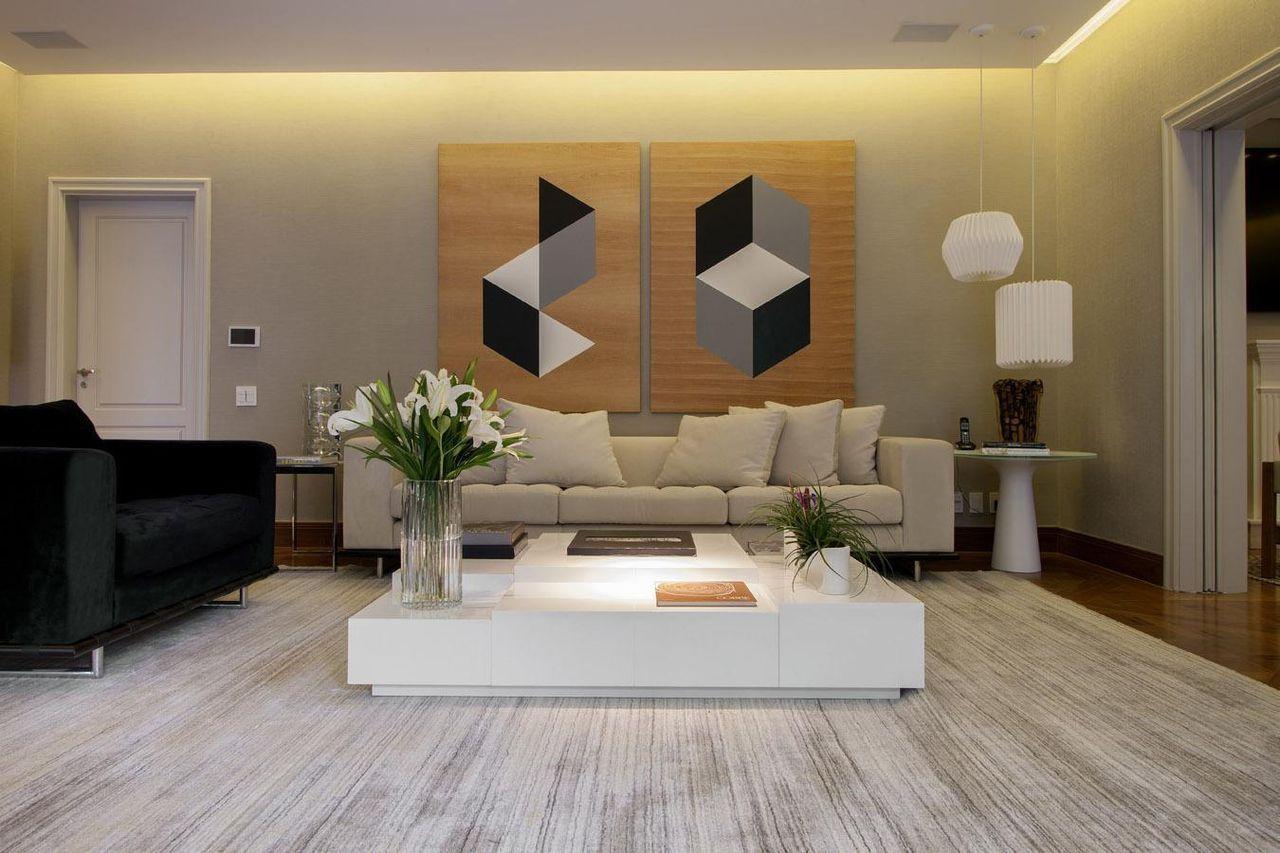 Sala de estar com quadro grande quadros pinterest for Sala de estar quadro
