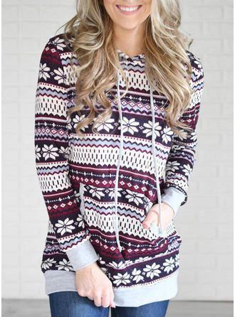 VERYVOGA Lila Freizeit Weihnachten Drucken Lange Ärmel Baumwolle Stricken Blusen. #VERYVOGA #Freizeit #Weihnachten #Drucken #LangeÄrmel #Baumwolle #Stricken #Blusen #Lila #Purple #casualchristmasoutfitsforwomen
